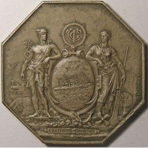 Photo numismatique Monnaies Jetons et médailles Compagnie Générale Transatlantique