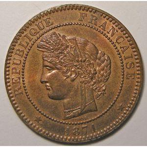 Photo numismatique Monnaies Françaises 10 Centimes Gadoury 265. Cérès