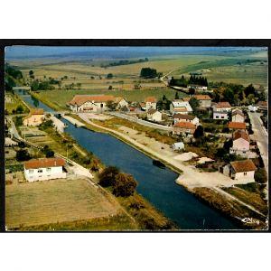 55 - DIEUE (Meuse) - Vue Aérienne sur le Canal de l'Est