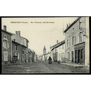 55 - LEROUVILLE (Meuse) - Rue Nationale, côté Commercy - Café de l'Espérance