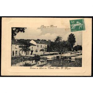 55 - LIGNY EN BARROIS (Meuse) - Ecluse et Pont du Canal, Rue Saint Dizier