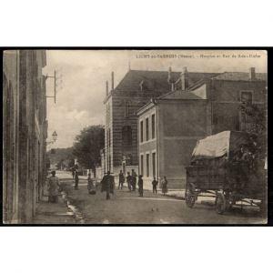 55 - LIGNY EN BARROIS (Meuse) - Hospice et Rue Saint Dizier