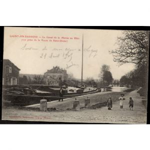 55 - LIGNY EN BARROIS (Meuse) - Le Canal de la Marne au Rhin (Vue prise de la Route de Saint Dizier)