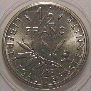 Photo numismatique Monnaies Françaises 1/2 Franc Gadoury 429. Semeuse