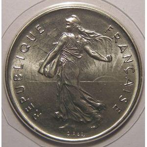 Photo numismatique Monnaies Françaises 5 Francs Gadoury 771. Semeuse cupro nickel