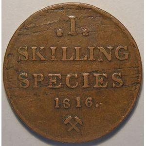 Photo numismatique Monnaies Etrang�res Norv�ge 1 Skilling