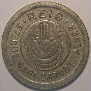 Photo numismatique Monnaies Monnaies et jetons de nécessité Nécessité du monde Algérie