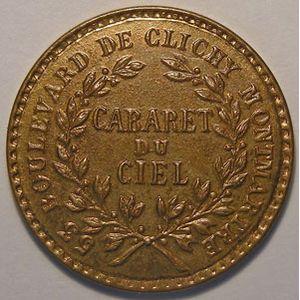 Photo numismatique Monnaies Jetons et médailles Jeton de Cabaret