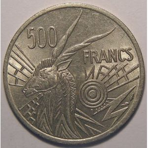 Photo numismatique Monnaies Etrang�res Afrique centrale 500 Francs