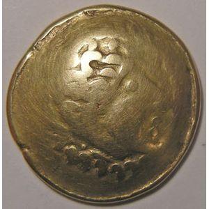 Photo numismatique Monnaies Gauloises Incertaine de l'Est Statère Crainvilliers au croissant
