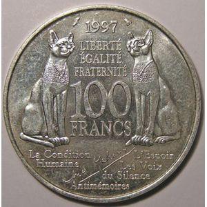 Photo numismatique Monnaies Françaises 100 Francs Gadoury 954. André Malraux