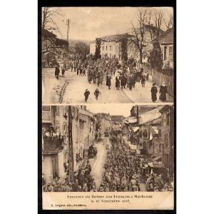 57 - MORHANGE (Moselle) - Souvenir du Retour des Français à Morhange le 18 Novembre 1918