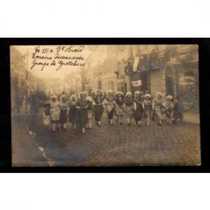 57 - SAINT AVOLD -Carte Photo -  Le 1/1 à St Avold, Lorraine désannexée - Groupe de Gretchens