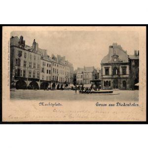 57 - THIONVILLE (Moselle)  - Gruss aus Diedenhofen - Marktplatz