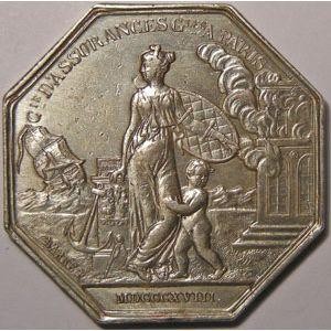 Photo numismatique Monnaies Jetons et médailles Jeton octogonal en argent Assurances
