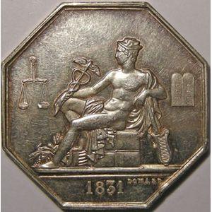 Photo numismatique Monnaies Jetons et médailles Jeton octogonal en argent Commissaires experts