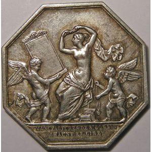 Photo numismatique Monnaies Jetons et médailles Jeton octogonal en argent Manufactures de Saint-Gobain