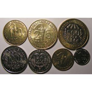 Photo numismatique Monnaies Etrangères Afrique de l'Ouest Lots