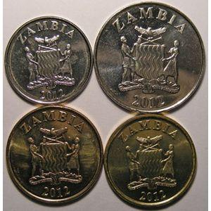 Photo numismatique Monnaies Etrangères Zambie Lots