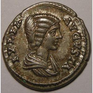 Photo numismatique Monnaies Empire Romain JULIE DOMNE (Epouse de Septime S�v�re) Denier