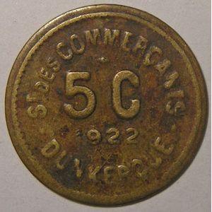 Photo numismatique Monnaies Monnaies et jetons de nécessité Dunkerque