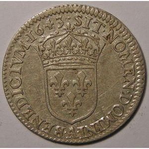 Photo numismatique Monnaies Royales Françaises LOUIS XIII (1610-1643) 1/12ème d'écu 2ème poinçon de Warin