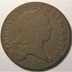 Photo numismatique Monnaies Royales Françaises LOUIS XV (1715-1774) Sol au buste enfantin