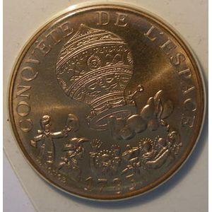Photo numismatique Monnaies Françaises 10 Francs Gadoury 816. Conquête de l'Espace