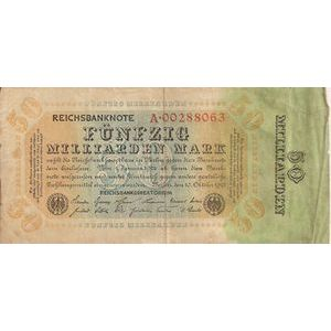Photo numismatique Billets Billets Allemagne 50 Milliarden Mark
