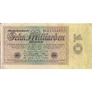 Photo numismatique Billets Billets Allemagne 10 Milliarden Mark