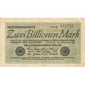 Photo numismatique Billets Billets Allemagne 2 Billionen Mark