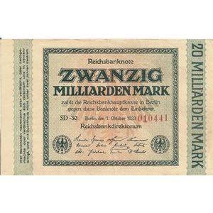 Photo numismatique Billets Billets Allemagne 20 Milliarden Mark