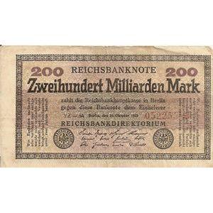 Photo numismatique Billets Billets Allemagne 200 Milliarden Mark