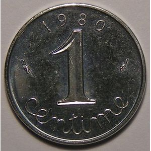 Photo numismatique Monnaies Françaises 1 Centime Gadoury 91. Epi