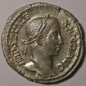 Photo numismatique Monnaies Empire Romain ALEXANDRE SEVERE (222-235) Denier