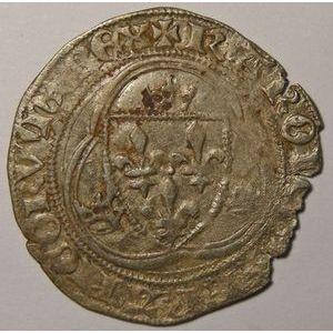 Photo numismatique Monnaies Royales Françaises CHARLES VIII (1483-1498) Blanc à la couronne