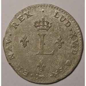 Photo numismatique Monnaies Royales Françaises LOUIS XV (1715-1774) Double Sol