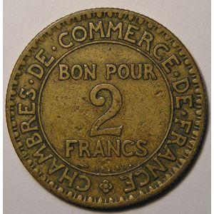 Photo numismatique Monnaies Françaises 2 Francs Gadoury 533. Chambre de commerce