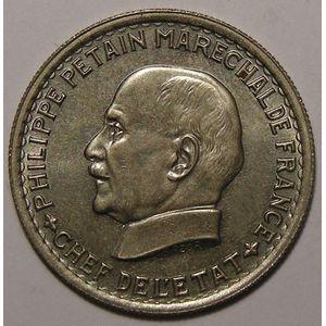Photo numismatique Monnaies Françaises 5 Francs Gadoury 764. Maréchal Pétain
