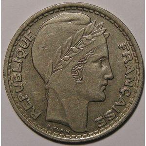 Photo numismatique Monnaies Françaises 10 Francs Gadoury 810. Turin en Cupro-Nickel grosse tête