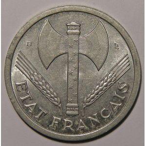 Photo numismatique Monnaies Françaises 2 Francs Gadoury 536. Etat Français