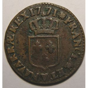 Photo numismatique Monnaies Royales Fran�aises LOUIS XV (1715-1774) 1/2 Sol � la vieille t�te