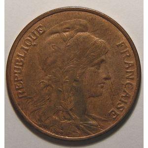Photo numismatique Monnaies Françaises 5 Centimes Gadoury 165. Dupuis