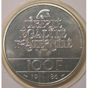 Photo numismatique Monnaies Françaises 100 Francs Gadoury 901. Liberté