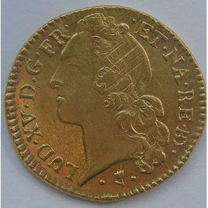 Photo numismatique Monnaies Royales Françaises LOUIS XV (1715-1774) Louis d'or de Béarn au bandeau