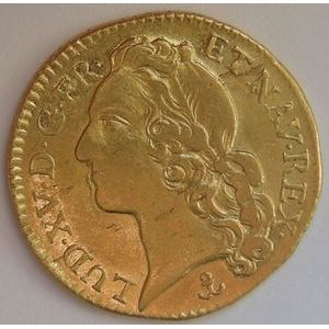 Photo numismatique Monnaies Royales Françaises LOUIS XV (1715-1774) Louis d'or au bandeau