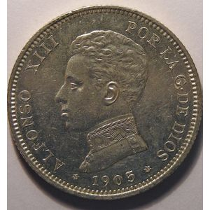 Photo numismatique Monnaies Etrangères Espagne Alfonso XIII (1886-1931)