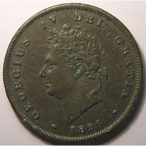 Photo numismatique Monnaies Etrangères Grande Bretagne George IV (1820-1830)