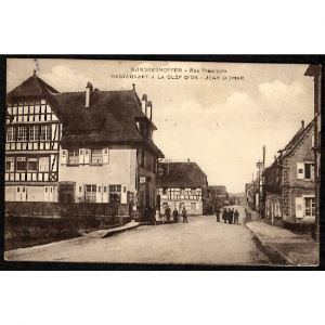 67 - GUNDERSHOFFEN (Bas Rhin) - Rue Principale - Restauration à la Clef d'Or - Jean Ditmar