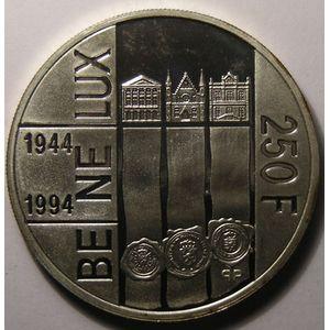 Photo numismatique Monnaies Etrangères Luxembourg 250 Francs